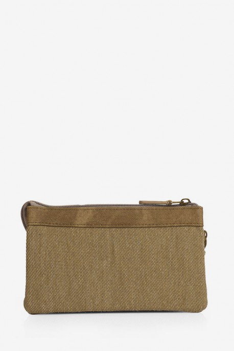 Monedero Triple Beige