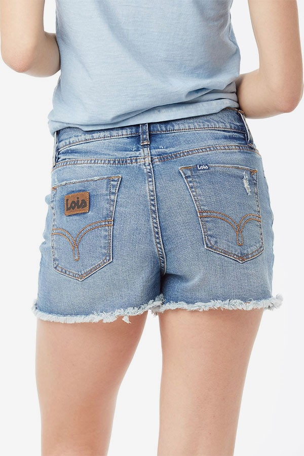 antalón Short Denim Rotos Sabrina Fany  High Rise