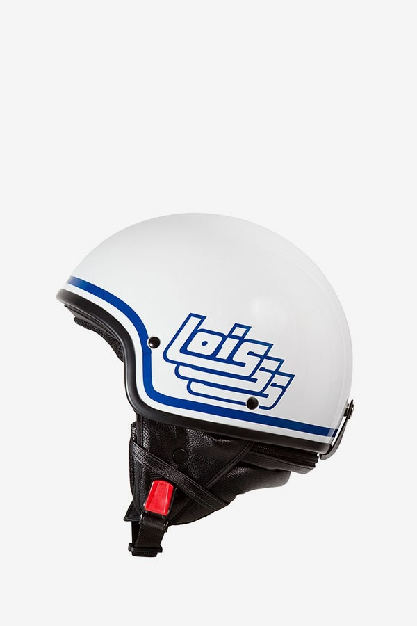 Casco White Retro