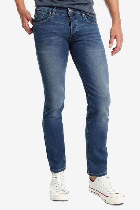 Pantalón Marvin Confort Slim Denim Blue