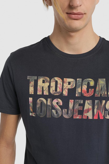 Camiseta gráfica tropical