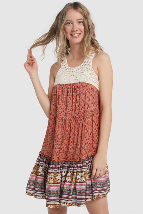 Vestido Volante Crochet