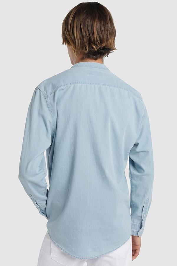 Camisa M/L Denim Cuello Maho