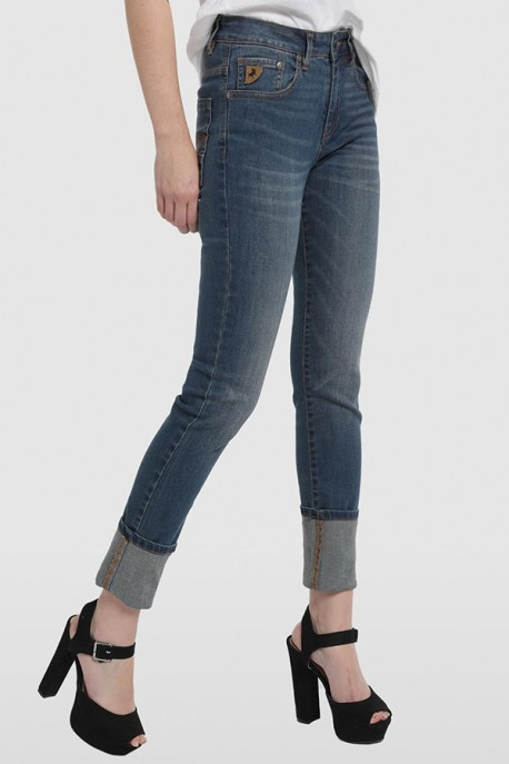 Lua Slim Straight Denim Blue