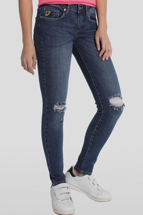 Jeans Lua Ankle Cutting Knee