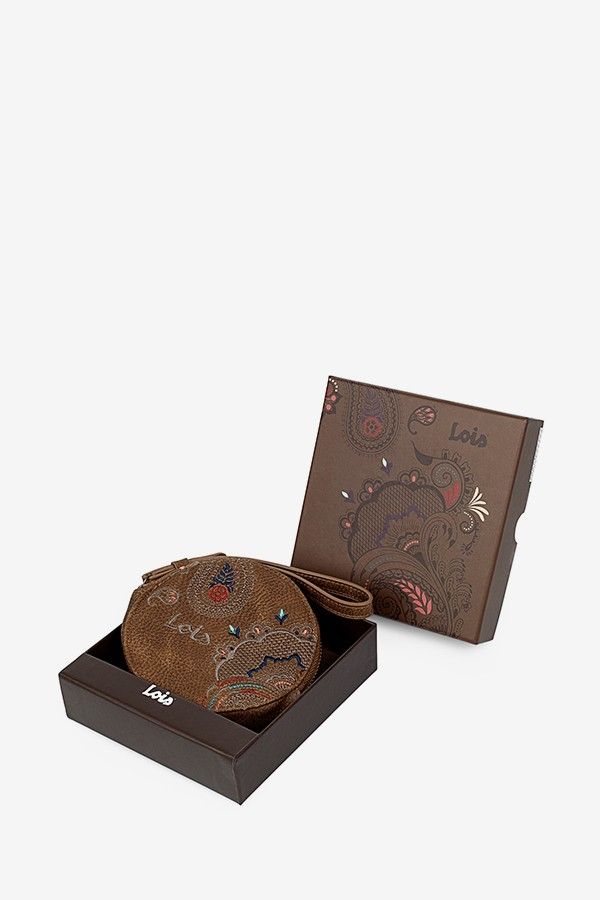 MONEDERO MARRON