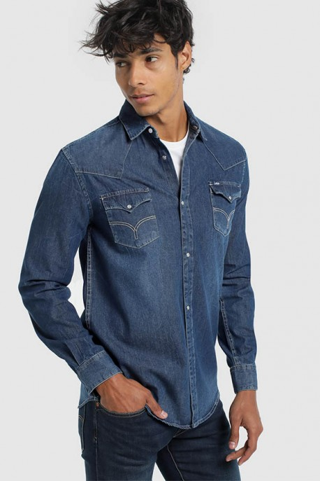 CAMISA DENIM BLUE-CARTER-LEON