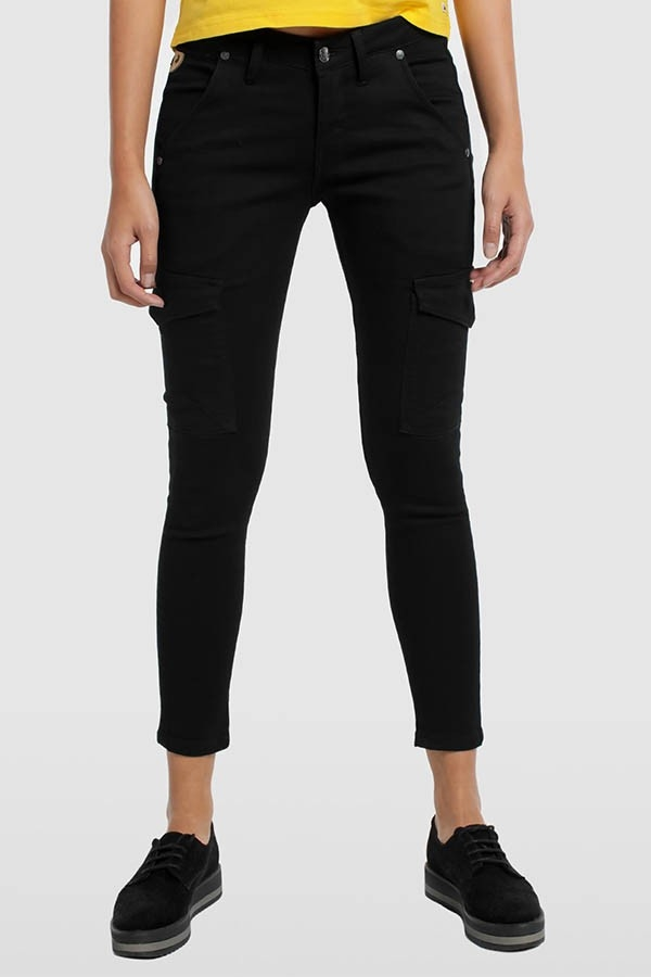 PANTALON BLACK DENIM CON LYCRA- NEWCARGO-ASTRID