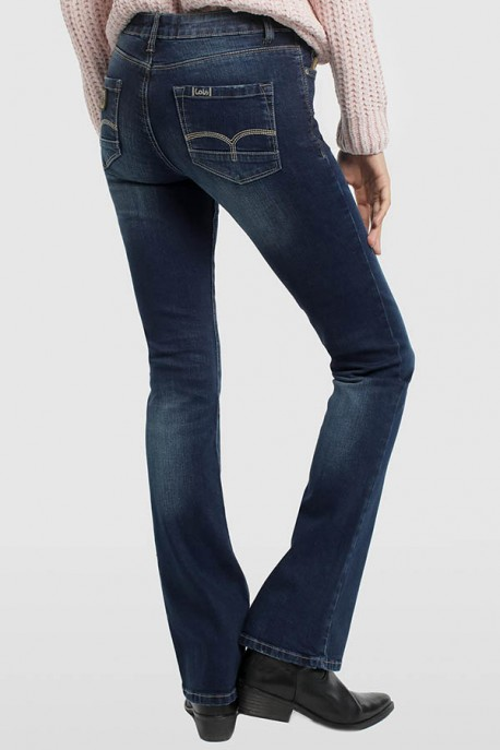 PANTALON DENIM BLUE- LUA BOOT-PAULE