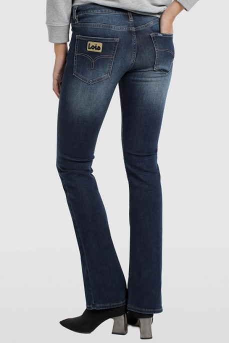 PANTALON DENIM BLUE-SLIMY BOOT-CORINA