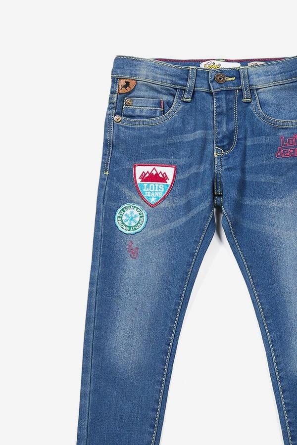 Jeans Parche Medium Blue