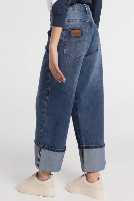 ANI-SOUL Denim Wide Leg Medium Blue