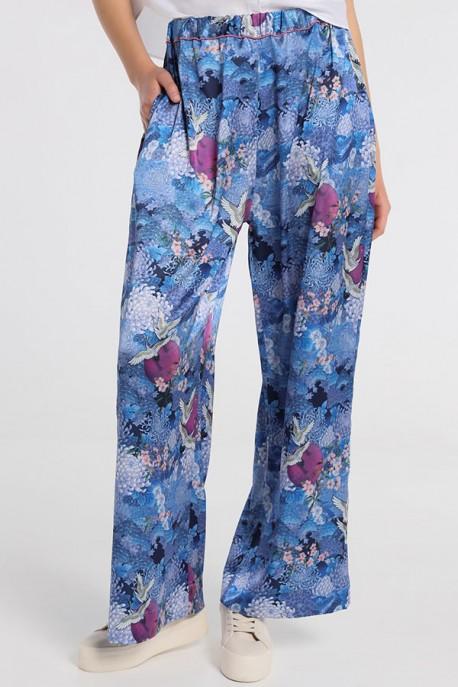 BLISS-HARMONY Pantalon Fluido Japanese Pink