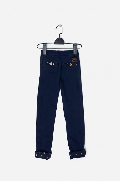 Pantalón marino detalle Lois