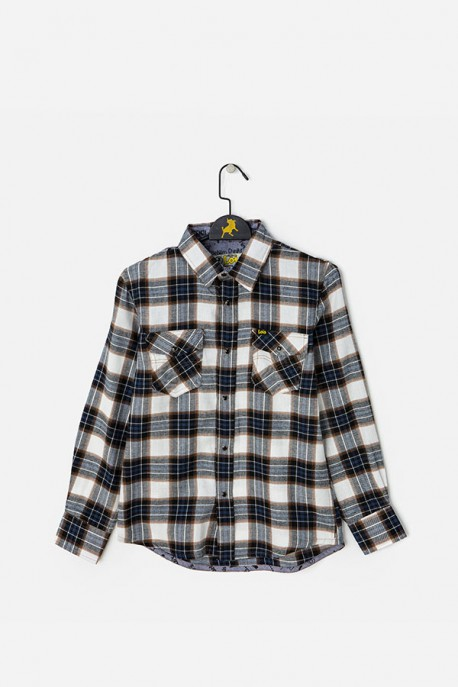 Camisa básica crudo/marino Lois